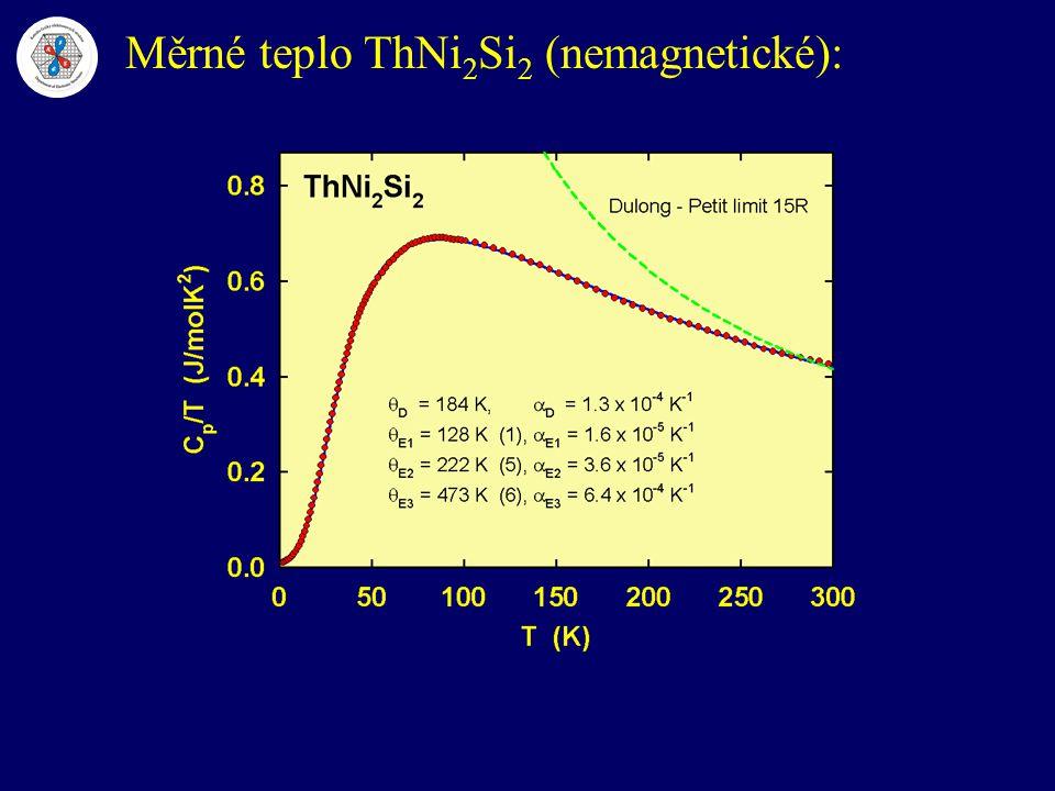 Měrné teplo ThNi2Si2 (nemagnetické):