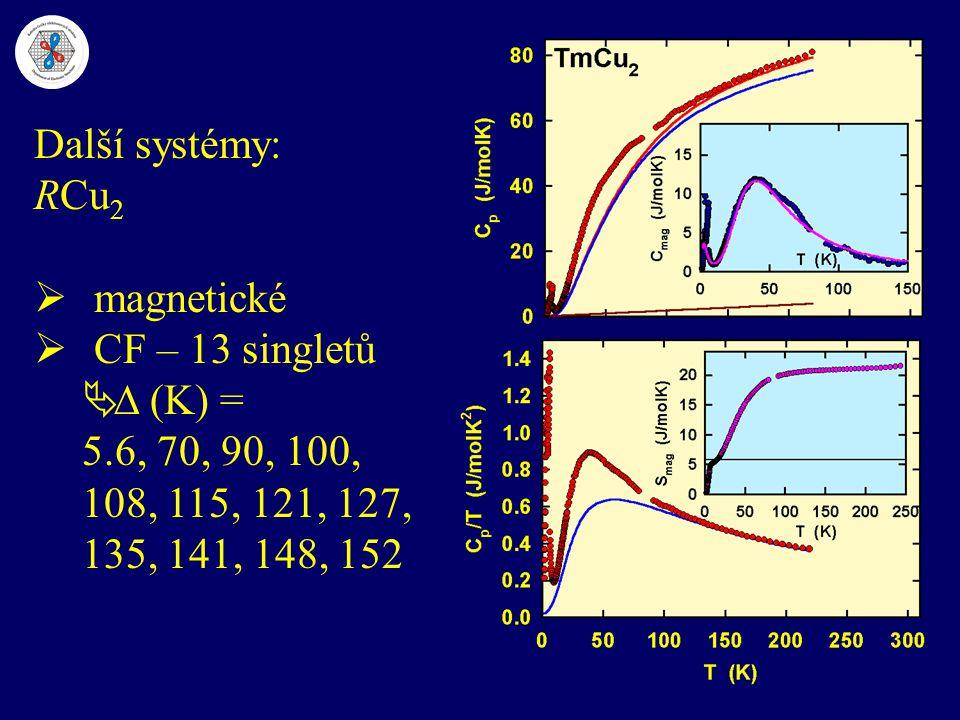 Další systémy: RCu2 magnetické. CF – 13 singletů.