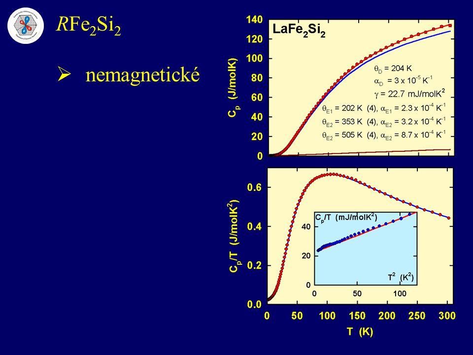 RFe2Si2 nemagnetické