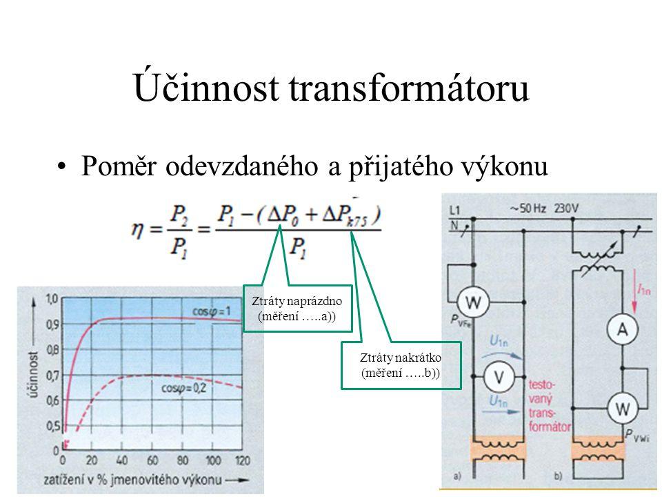Účinnost transformátoru