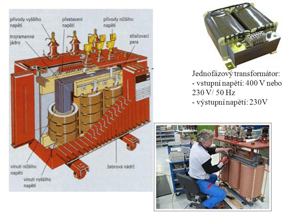 Jednofázový transformátor: