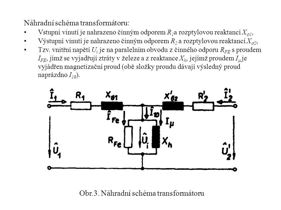 Obr.3. Náhradní schéma transformátoru