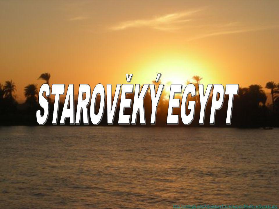 STAROVĚKÝ EGYPT http://pinhigh.info/AdventureTravel/egypt/NileRiverSunset.jpg
