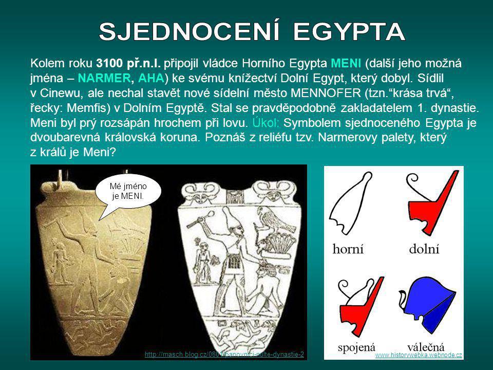 SJEDNOCENÍ EGYPTA