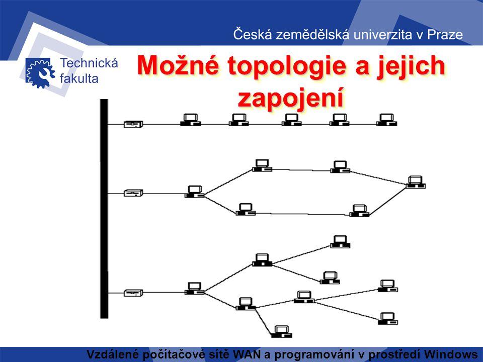 Možné topologie a jejich zapojení