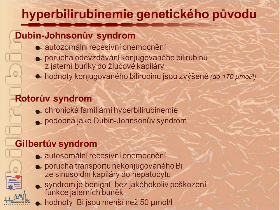 hyperbilirubinemie genetického původu