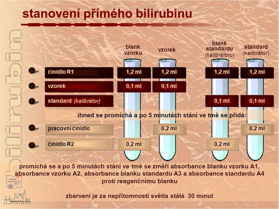 stanovení přímého bilirubinu