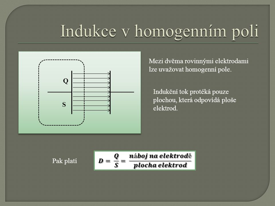 Indukce v homogenním poli