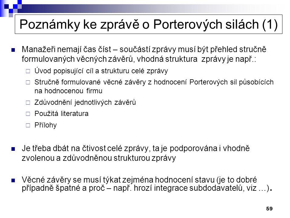 Poznámky ke zprávě o Porterových silách (1)