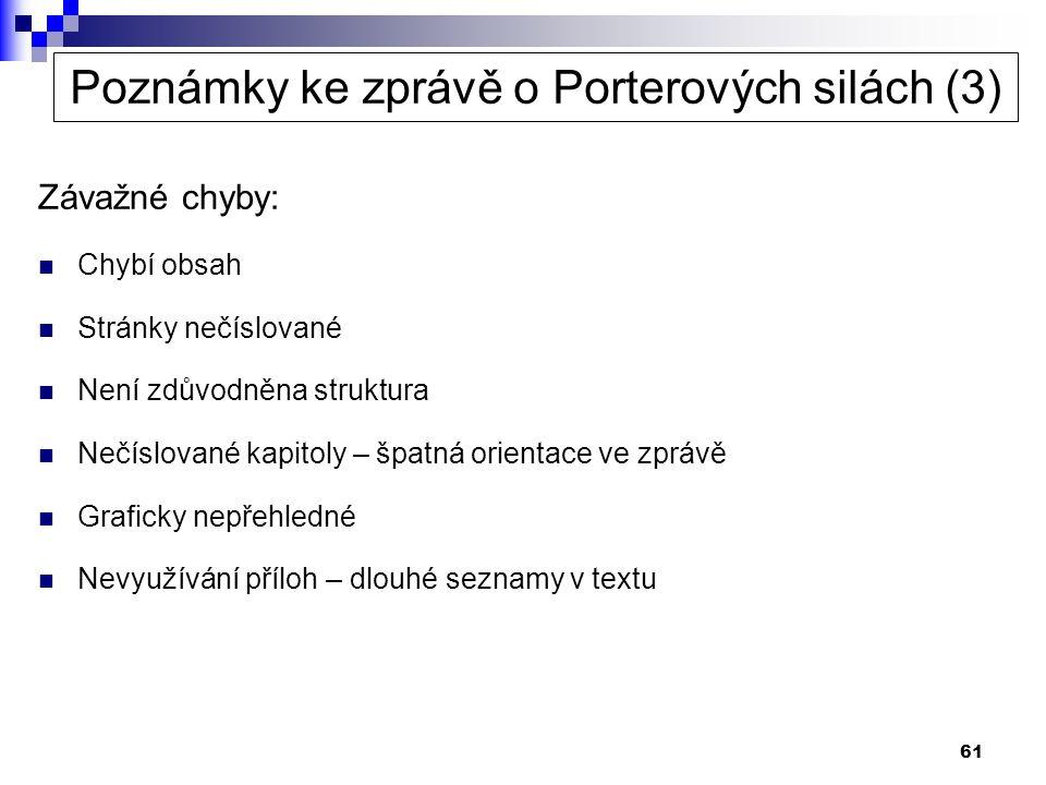 Poznámky ke zprávě o Porterových silách (3)