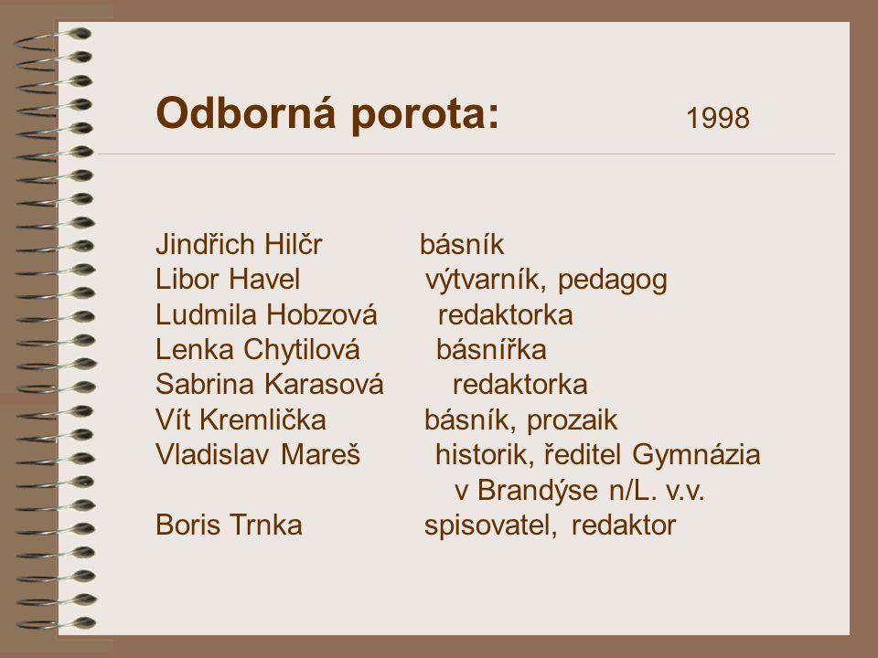 Odborná porota: 1998 Jindřich Hilčr básník