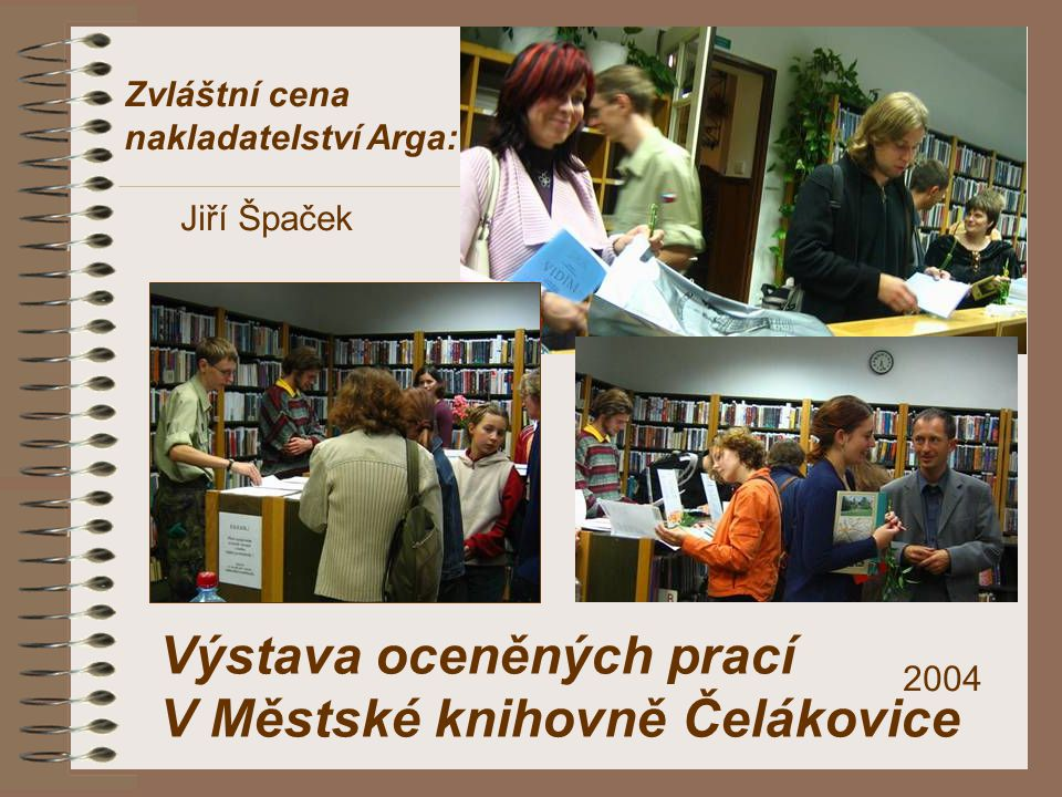 Výstava oceněných prací V Městské knihovně Čelákovice
