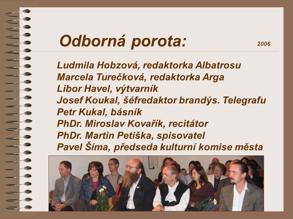 Odborná porota: Ludmila Hobzová, redaktorka Albatrosu