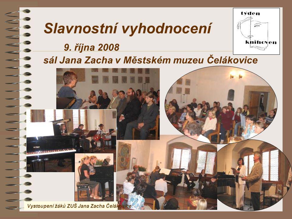 Slavnostní vyhodnocení 9. října 2008
