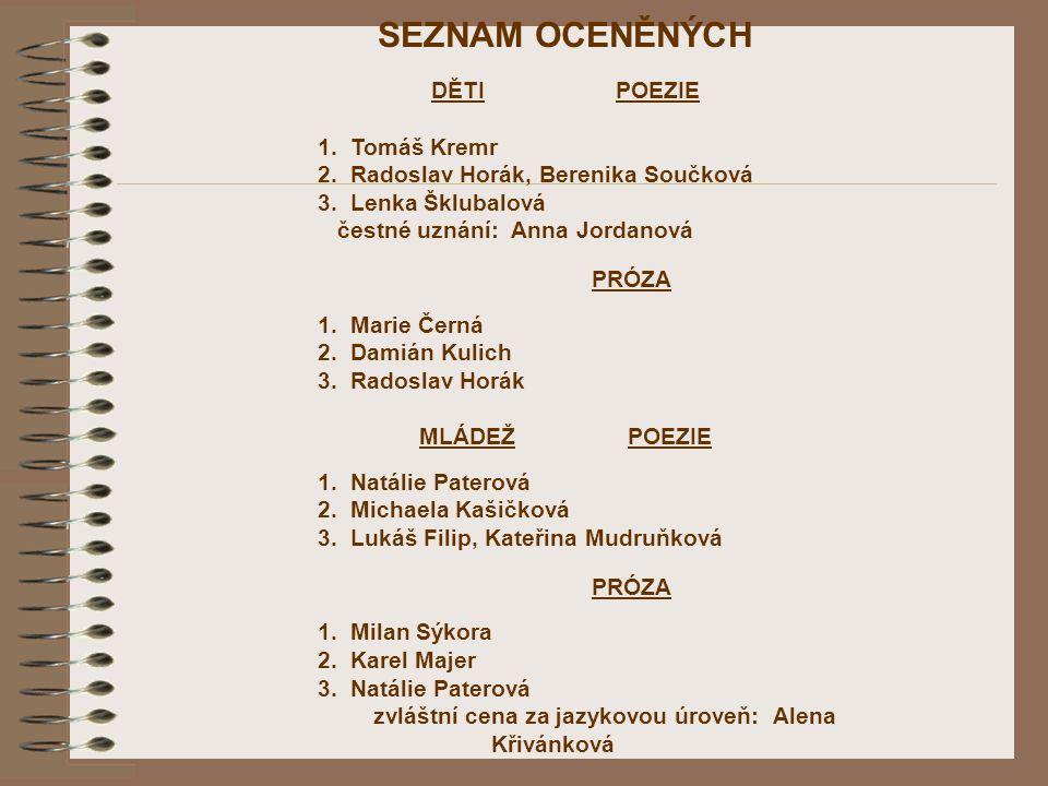 zvláštní cena za jazykovou úroveň: Alena Křivánková