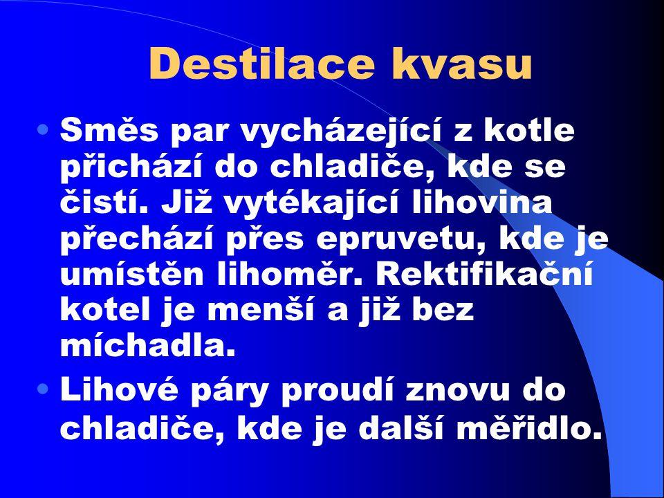Destilace kvasu