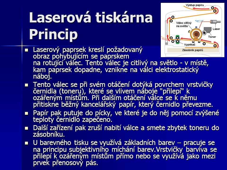 Laserová tiskárna Princip