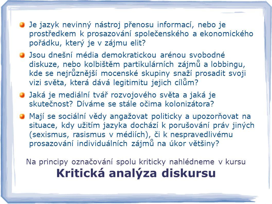 Kritická analýza diskursu