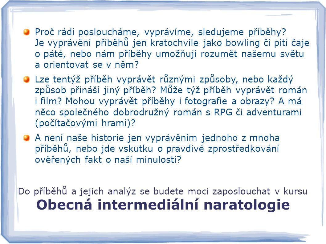 Obecná intermediální naratologie