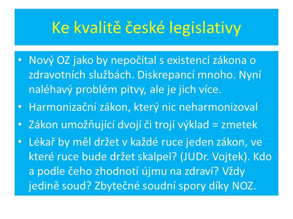Ke kvalitě české legislativy