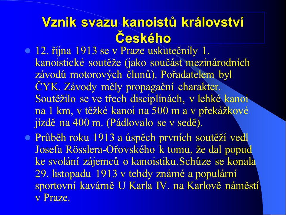 Vznik svazu kanoistů království Českého