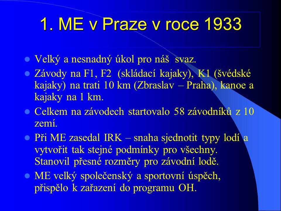 1. ME v Praze v roce 1933 Velký a nesnadný úkol pro náš svaz.