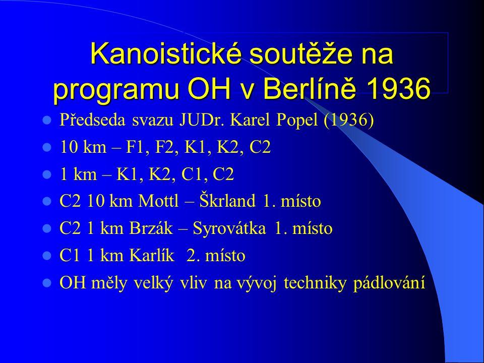 Kanoistické soutěže na programu OH v Berlíně 1936