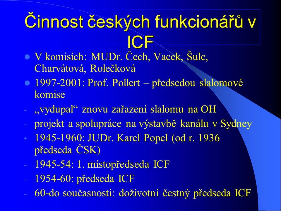 Činnost českých funkcionářů v ICF