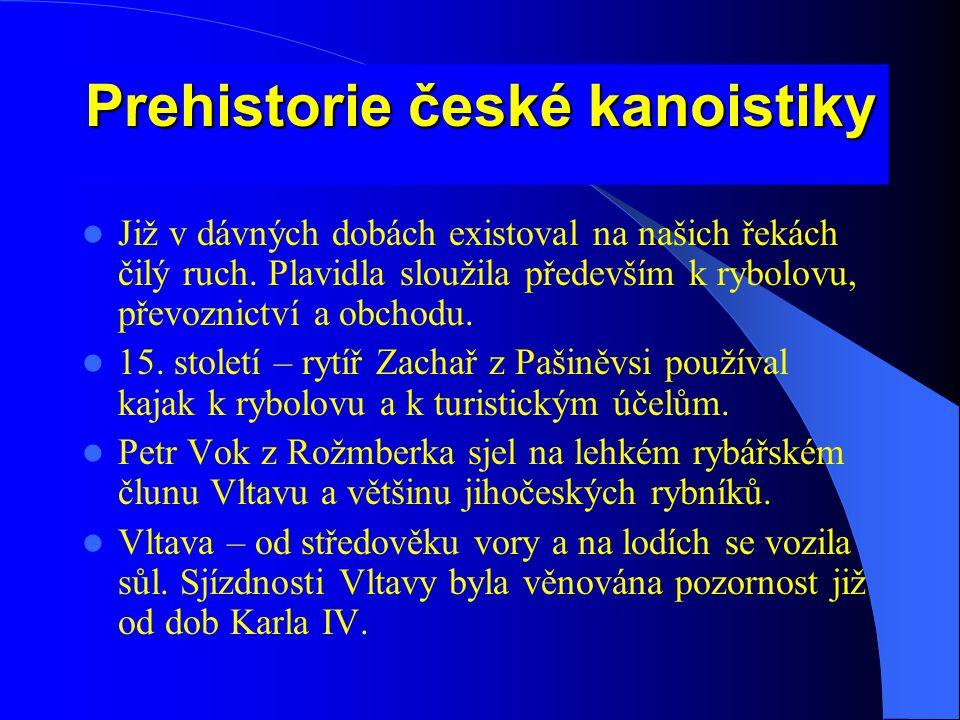 Prehistorie české kanoistiky