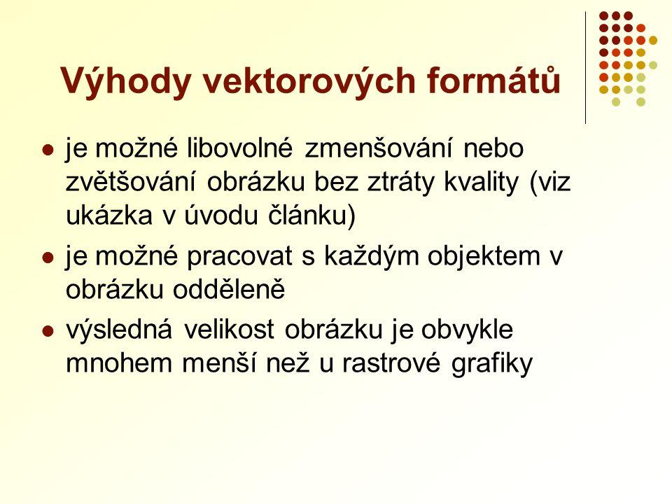 Výhody vektorových formátů