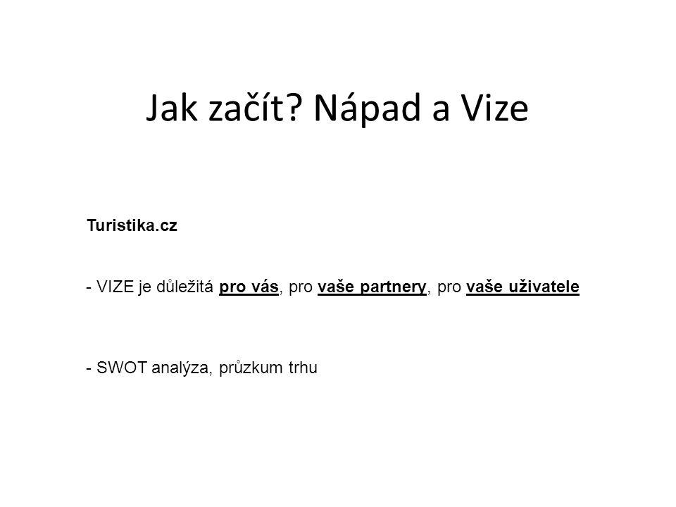 Jak začít Nápad a Vize Turistika.cz