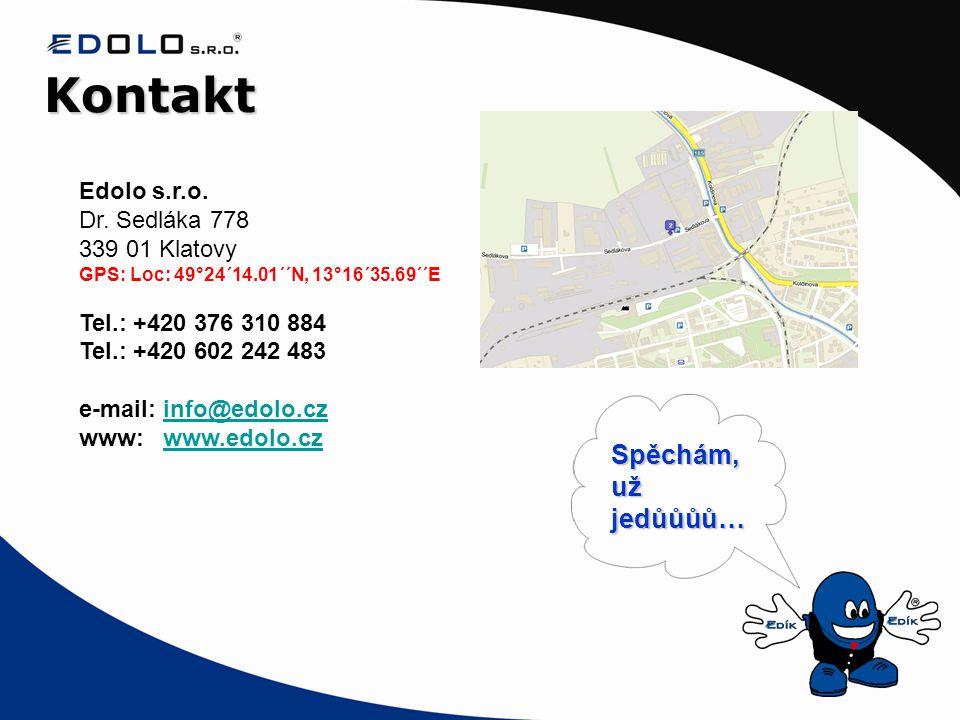 Kontakt Spěchám, už jedůůůů… Edolo s.r.o. Dr. Sedláka 778