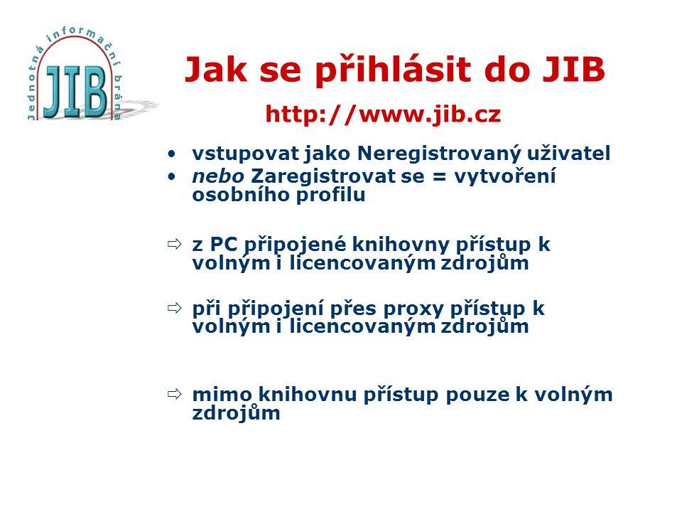 Jak se přihlásit do JIB http://www.jib.cz