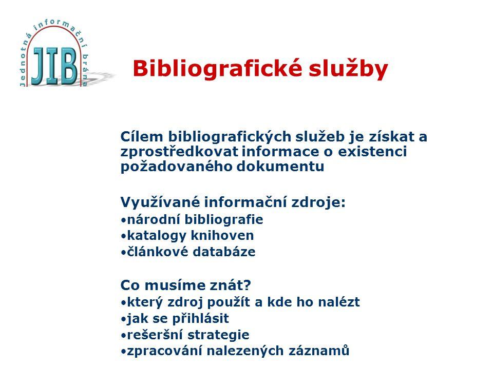 Bibliografické služby