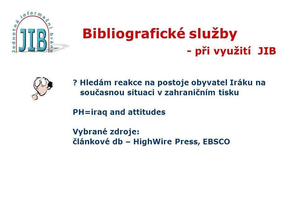 Bibliografické služby - při využití JIB