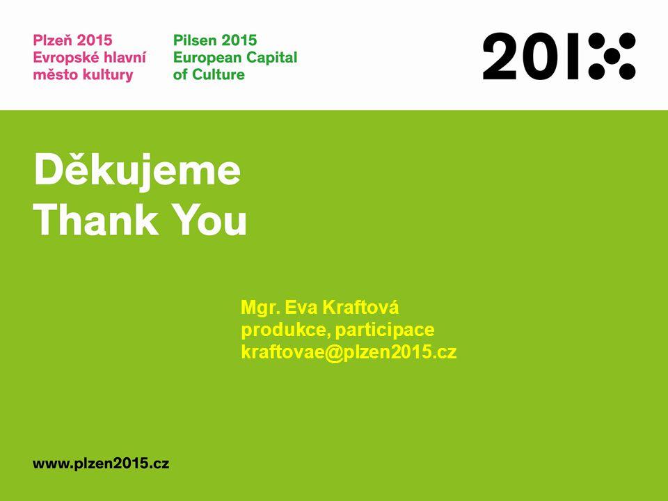 Mgr. Eva Kraftová produkce, participace kraftovae@plzen2015.cz