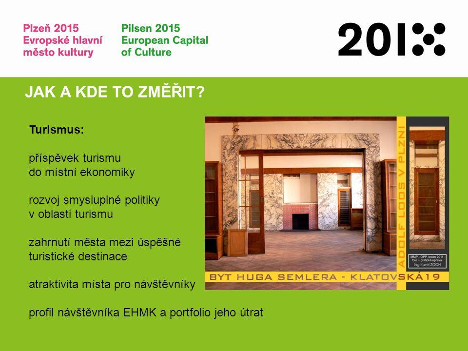 JAK A KDE TO ZMĚŘIT Turismus: příspěvek turismu do místní ekonomiky