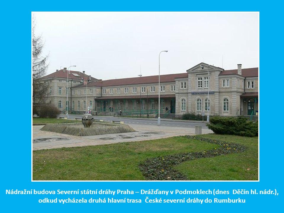 Nádražní budova Severní státní dráhy Praha – Drážďany v Podmoklech (dnes Děčín hl.