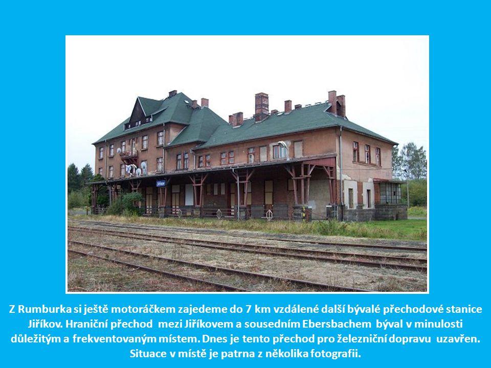 Z Rumburka si ještě motoráčkem zajedeme do 7 km vzdálené další bývalé přechodové stanice Jiříkov.