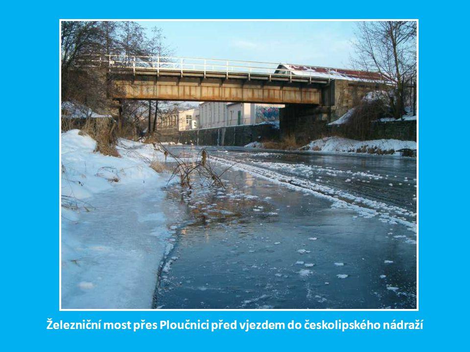 Železniční most přes Ploučnici před vjezdem do českolipského nádraží