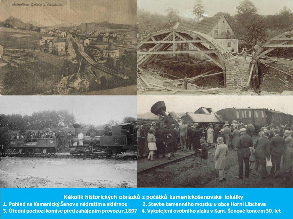 Několik historických obrázků z počátků kamenickošenovské lokálky 1
