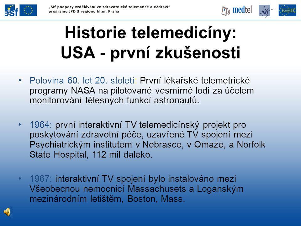 Historie telemedicíny: USA - první zkušenosti
