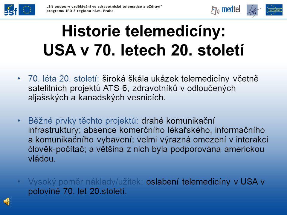 Historie telemedicíny: USA v 70. letech 20. století