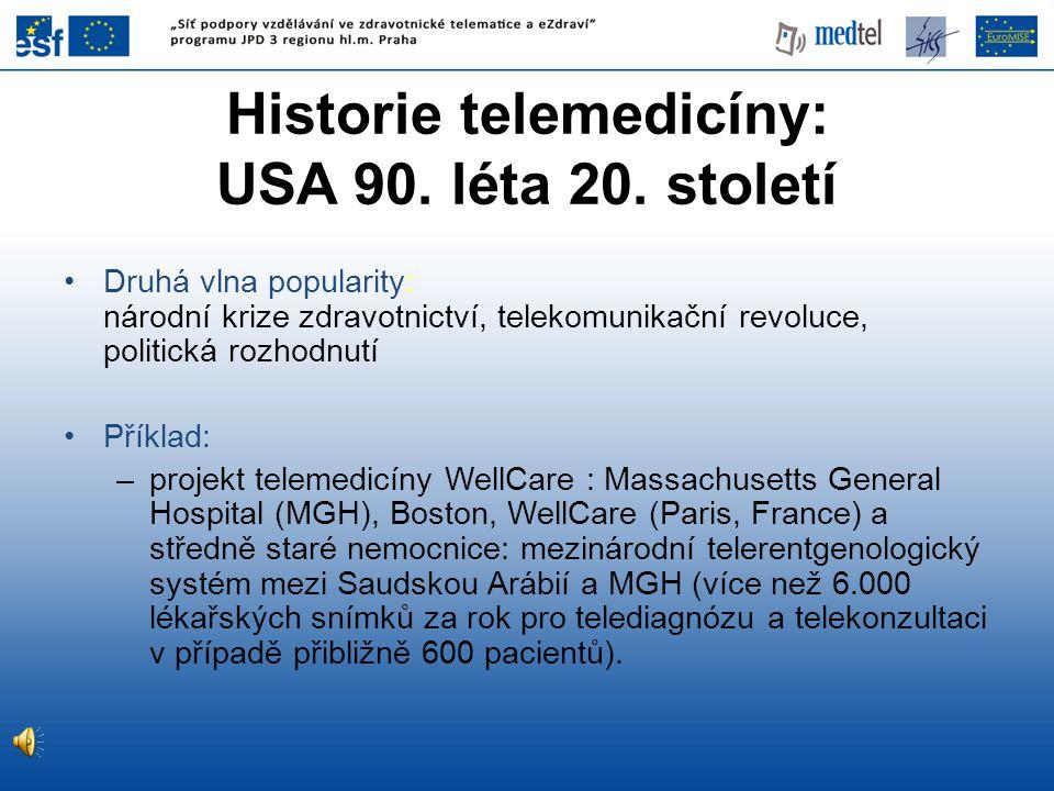 Historie telemedicíny: USA 90. léta 20. století