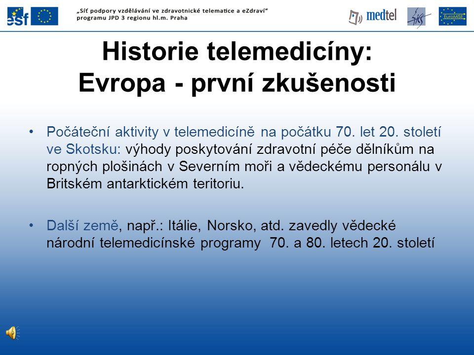 Historie telemedicíny: Evropa - první zkušenosti