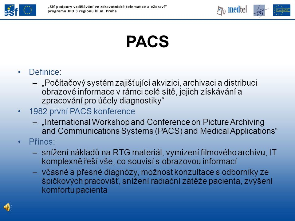 PACS Definice: