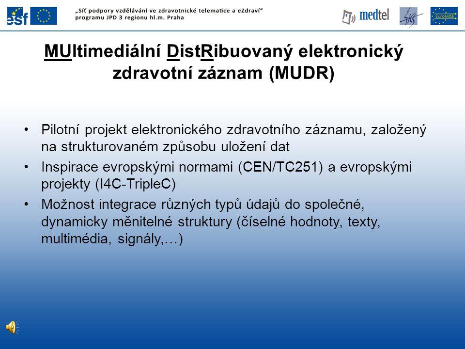MUltimediální DistRibuovaný elektronický zdravotní záznam (MUDR)