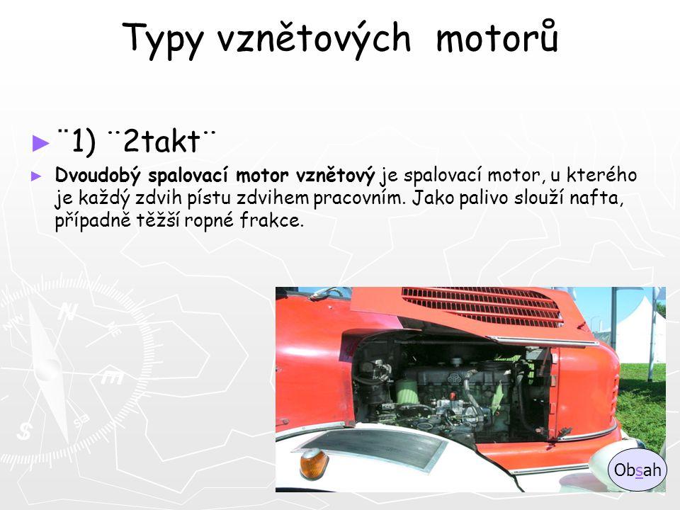 Typy vznětových motorů