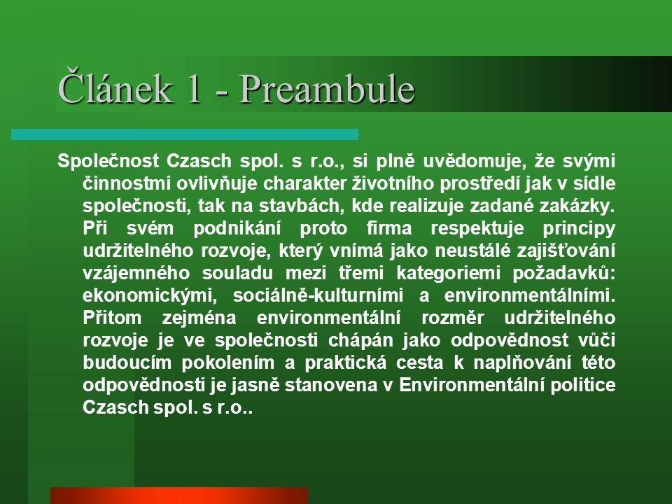 Článek 1 - Preambule