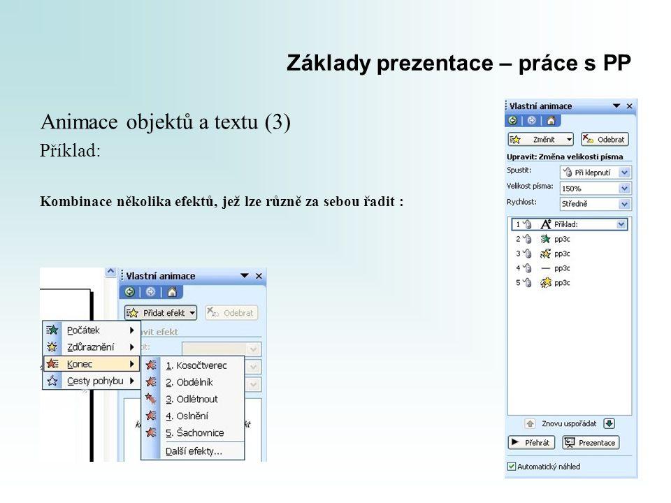 Základy prezentace – práce s PP
